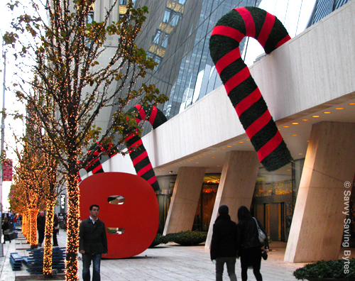 Giant Candy Canes on Skyscraper