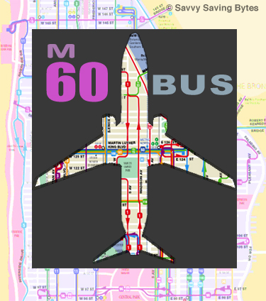 M60 bus route in shape of plane