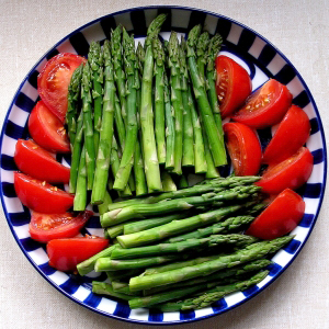 Tomatoes, asparagus
