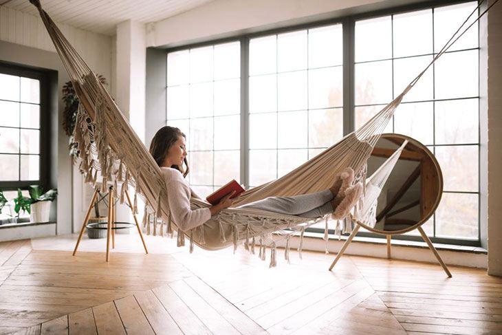how to hang a hammock indoors ceiling